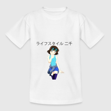 Anime girl 03 text Lifestyle2000 en japonés - Camiseta adolescente