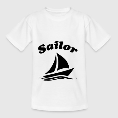 sømand sort - Teenager-T-shirt