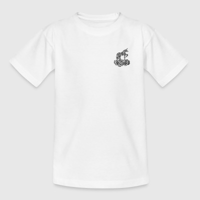 Enchanted black and white unicorn - Teenage T-shirt