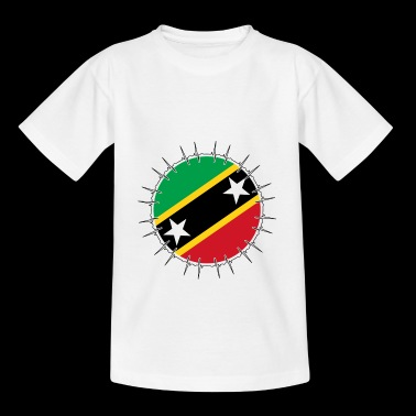 Love ECG Heartbeat Home Vacations Roots St Kitts - Teenage T-shirt