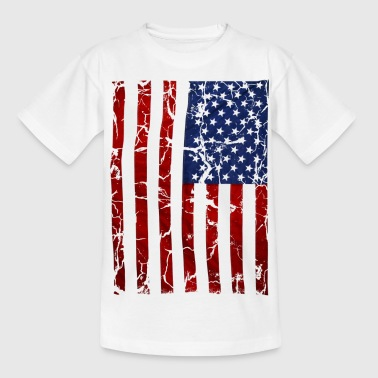 US flag vintage stars and stripes white shirt - Teenager T-Shirt