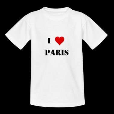 I love Paris Geschenk - Teenager T-Shirt