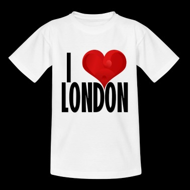 J'AIME LONDON noir - T-shirt Ado