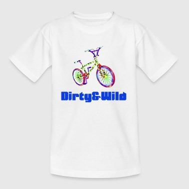 BMX dirty and wild lettering gift idea - Teenage T-shirt