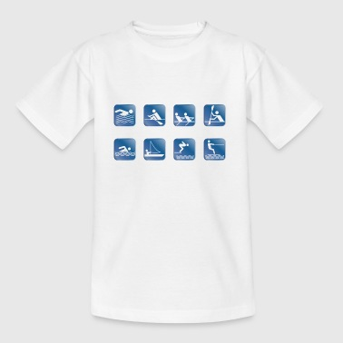 water skiing water skiing - Teenage T-shirt