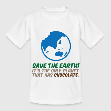 Save the planet. There is chocolate! - Teenage T-shirt