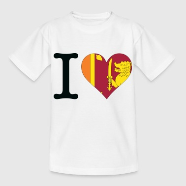 I love Sri Lanka - Teenage T-shirt