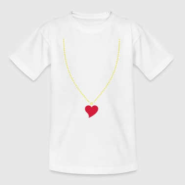 Heart Necklace - Teenage T-shirt