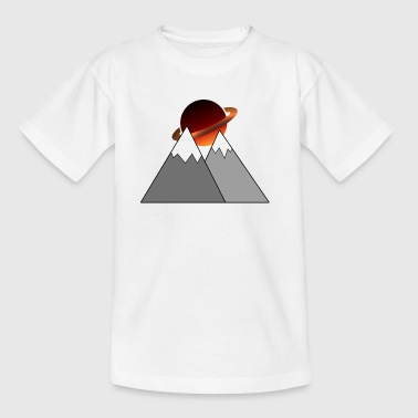 Planet of mountains - Teenage T-shirt