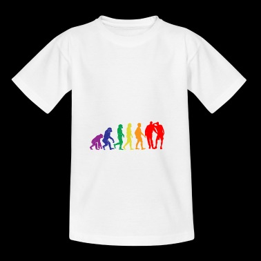 Gay regalo de la evolución del sexo gay gaypride - Camiseta adolescente