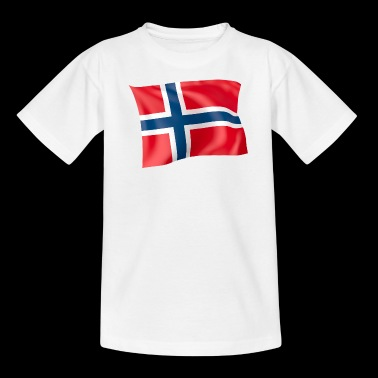 flag Norge - Teenager-T-shirt