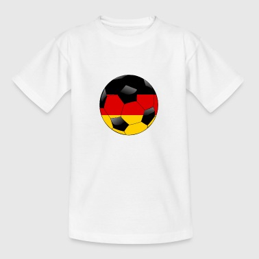 Fussball mit deutscher Flagge - Teenager T-Shirt