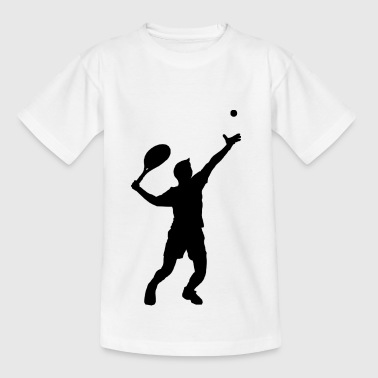 tennis ball court sports bat player player squash - Teenage T-shirt