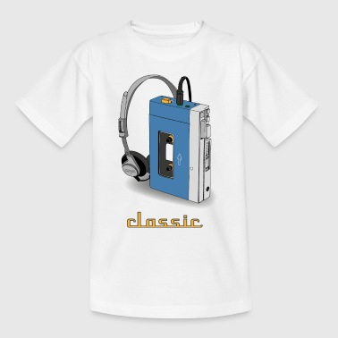 CLASSIC-WALKMAN retro design, blauw - Teenager T-shirt