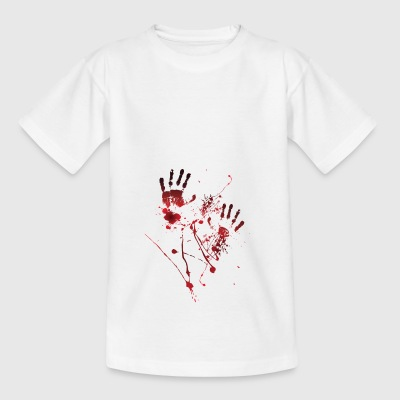 Blood indruk - Bloody hands - bloedspatten - Bloed - Teenager T-shirt