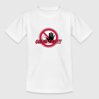 señal de advertencia Gimme Five prohibición 3c mano - Camiseta adolescente