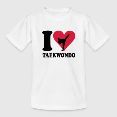 I love Teakwondo Kids' Shirts - Teenage T-shirt