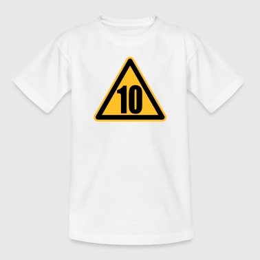 Warning 10 | Achtung 10 - Teenage T-shirt