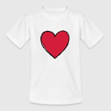 Herz - Teenager T-Shirt
