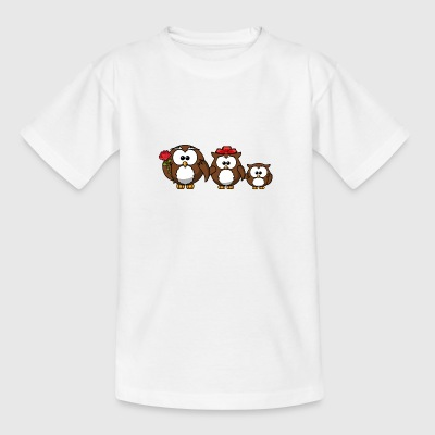 Owl familie - Teenager-T-shirt
