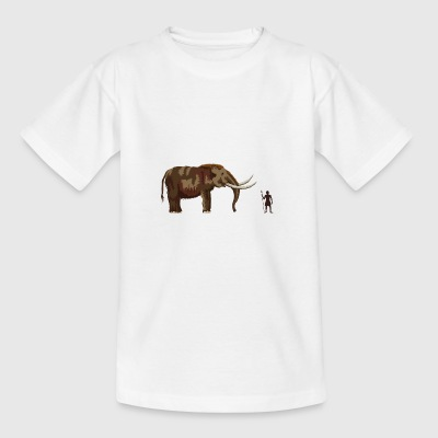 Mammoth og jægere - Teenager-T-shirt