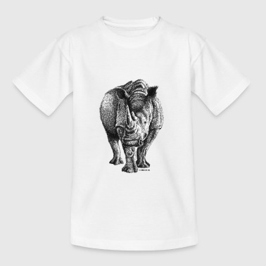 Scribbled Rhino - Teenager T-shirt