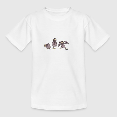 Owls - purple - Teenage T-shirt