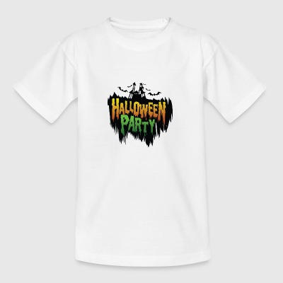 Helloween party - Chateau - bat - Teenager T-shirt