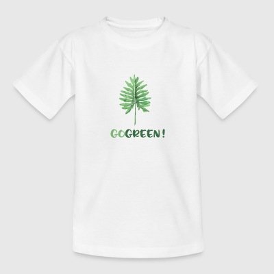 GO GREEN! - Camiseta adolescente
