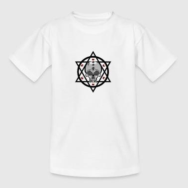 Pentagram skull - Teenage T-shirt