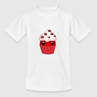 kawaii cupcake cranberry - T-shirt Ado