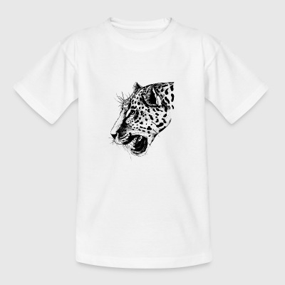 leopard, leopardenkopf - Teenager T-Shirt