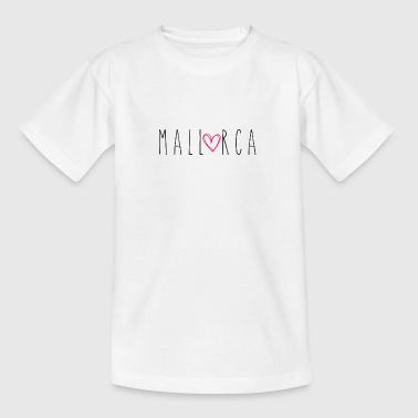 Mallorca mit Herz - Teenager T-Shirt