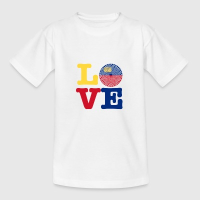 LIECHTENSTEIN HEART - Teenage T-shirt