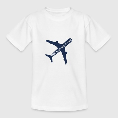 Pilot: Born to fly, force to work. - Teenager T-Shirt