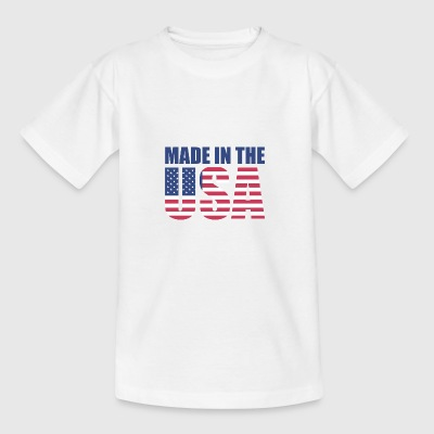 USA Amerika Flag Stars and Stripes Made in USA - Teenager-T-shirt