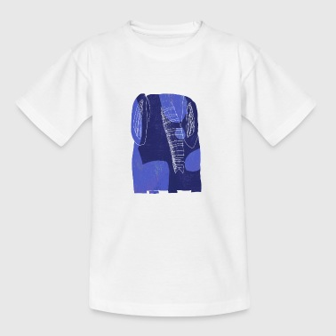 blauer Elefant - Teenager T-Shirt