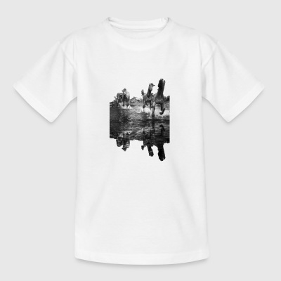 Pferdemotiv paarden in water - Teenager T-shirt