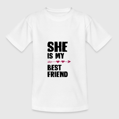 She is my best friend Left - Teenager T-Shirt