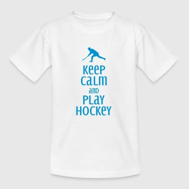 keep calm and play hockey - Teenage T-shirt