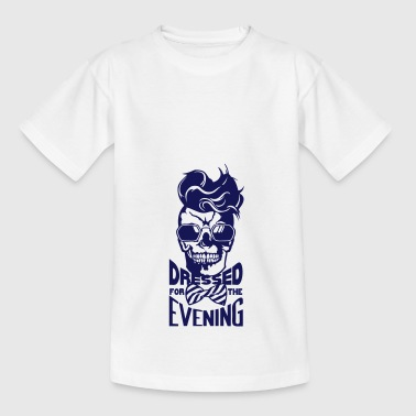 tete mort hipster citation dressed evening coiffur - T-shirt Ado
