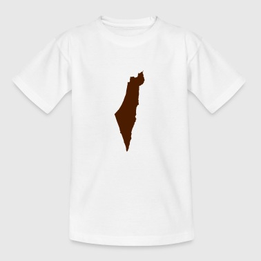 Israel kortet - Teenager-T-shirt