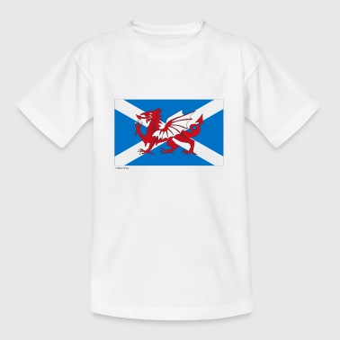 Olympics Games Scotland Wales Mixed Flag - Teenage T-shirt