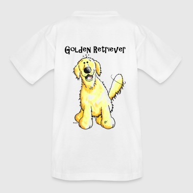 Happy Golden Retriever Dog - Teenage T-shirt
