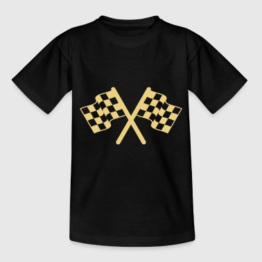 racing flags sport - Teenage T-shirt