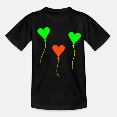Heart Balloon Heart Balloons - Teenage T-Shirt
