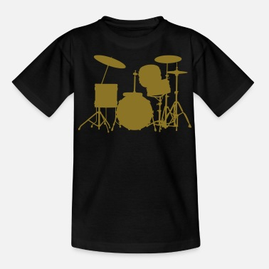 Set music drums drum set - Teenager T-Shirt