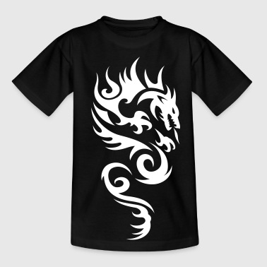 tribal dragon - T-skjorte for tenåringer