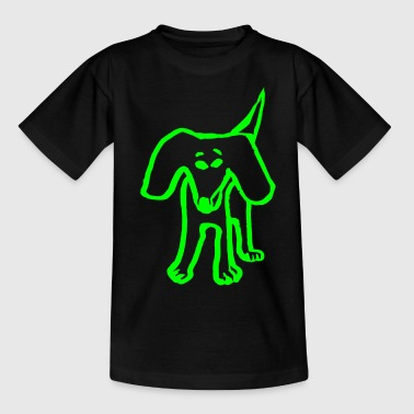lustiger Hund - Teenager T-Shirt