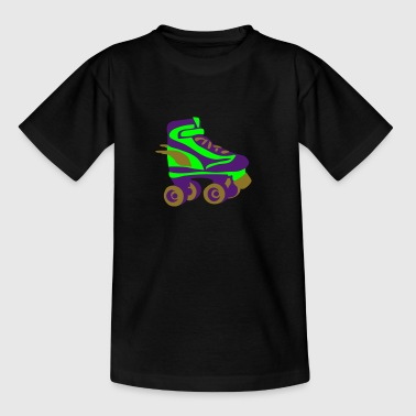 Retro roller skate by Patjila - Teenager T-shirt